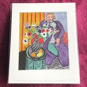 Print of Purple Robe and Anemones by Henri Matisse